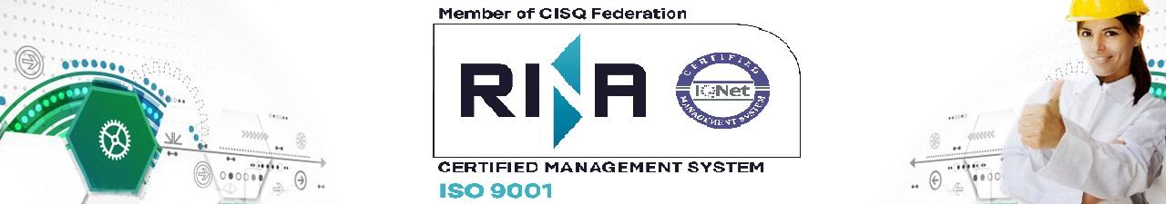 Certificación Calidad Rina ISO 9001