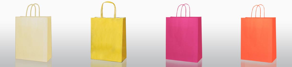 Colores para Bolsas Genéricas: Crema, Amarillo, Fucsia, Naranja