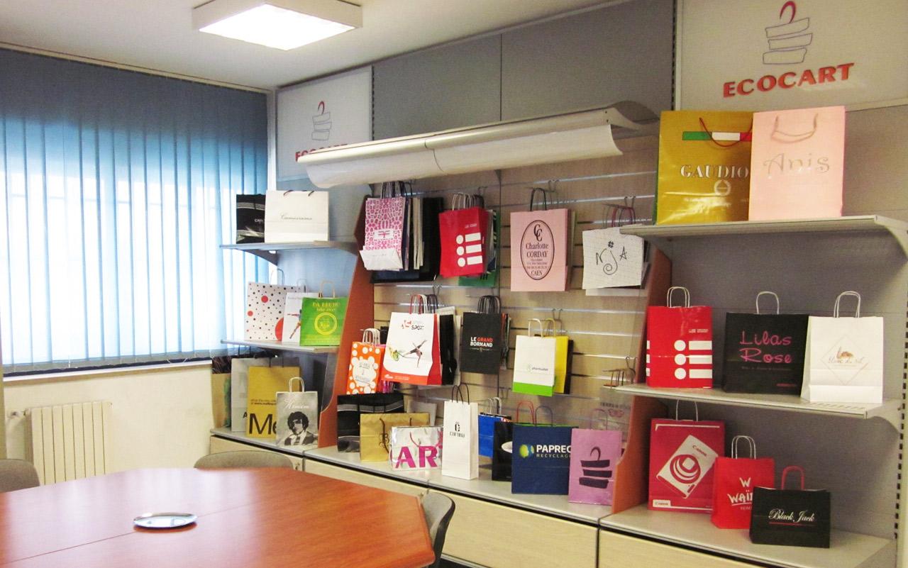 Sala de Reuniones y Showroom de nuestra empresa Ecocart Spa Italia