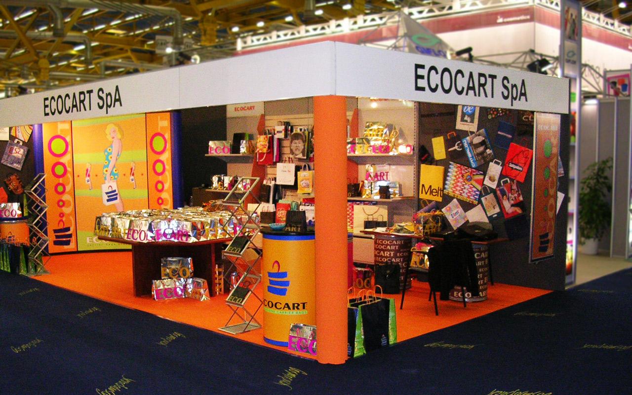 Stand para exposiciones de la empresa Ecocart Spa Italia